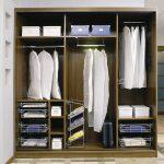 Шкаф в спальню внутреннее наполнение с размерами фото – варианты внутреннего наполнения в прихожей модели размером 3 метра, дизайн и планировка встроенного купе