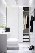 Шкафы икеа в интерьере фото – подвесные модели с зеркалом и стеллажи для одежды и книг цвета белый глянец