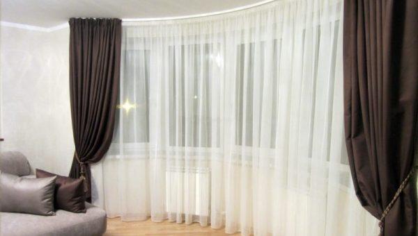 Шторы для больших окон фото – фото вариантов современного декора, советы по дизайну оконных проёмов занавесками
