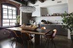 Шторы для кухни в стиле лофт фото – Дизайн кухни в стиле лофт (40 фото), кухня в индустриальном стиле — Идеи интерьеров