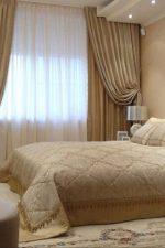 Шторы модные в спальню – дизайн занавески, модные красивые портьеры в белую спальню в стиле «Прованс», двойные светлые шторы