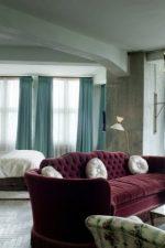 Шторы трех цветов – римские с тюлью в комплекте, модели-нити в интерьере квартиры, как подобрать длину, цвета и ткани, вместе на одном карнизе