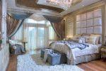 Шторы в спальню светлые – дизайн занавески, модные красивые портьеры в белую спальню в стиле «Прованс», двойные светлые шторы