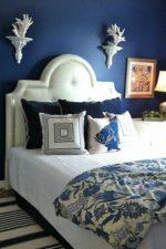 Синий цвет в интерьере спальни – дизайн интерьера в темно-синих тонах, в бело-синем, сине-золотом и голубом цвете, значение цвета