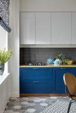 Синяя кухня классическая – 3941 фото вариантов дизайна, сочетание с другими цветами, выбор стиля