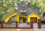 Сочетание цветов кирпичный – подбор цвета + множество фото окрашенных зданий, сочетание таких цветов как белый, черный, желтый, матовый и т.д.