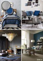 Сочетание цветов в интерьере с голубым – Серый цвет в интерьере гостиной и спальни. Сочетание цветов с серым цветом. Фото