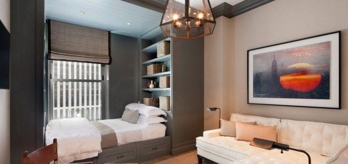 Совмещенная гостиная со спальней фото – дизайн совмещенной гостиной и зоны для сна в одной комнате, оригинальные проекты интерьера, в классическом стиле и прованс