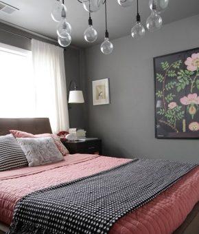 Спальня в сером цвете дизайн фото – дизайн интерьера в серо-белых, серо-коричневых, серо-сиреневых и серо-черных оттенках, сочетание с синим и желтым цветом