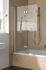 Стеклянные шторы для ванны раздвижные – шторы и ширмы из стекла вместо тканевых моделей, установка ограждения с дверцами для ванной комнаты