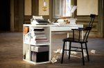 Столы из икеа – белый школьный растущий стол с ящиками, мебель для школьника в интерьере