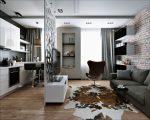 Студия 26 квадратов идеи интерьера – Маленькая квартира-студия площадью 26 квадратных метров с декоративной перегородкой