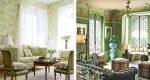 Светло зеленые стены в интерьере