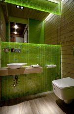 Темный санузел – напольный вариант в дизайне интерьера туалета, комбинации с белым и красным цветом, стиль дизайна в квартире с унитазом в темных тонах