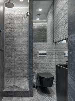 Туалет черный дизайн – напольный вариант в дизайне интерьера туалета, комбинации с белым и красным цветом, стиль дизайна в квартире с унитазом в темных тонах