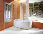 Ванна угловая с душевой кабиной