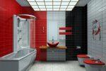 Ванная комната красно белая фото