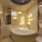 Ванная комната с угловой ванной дизайн – Интерьер ванной комнаты с угловыми ваннами: видео установки ванной, 72 фото