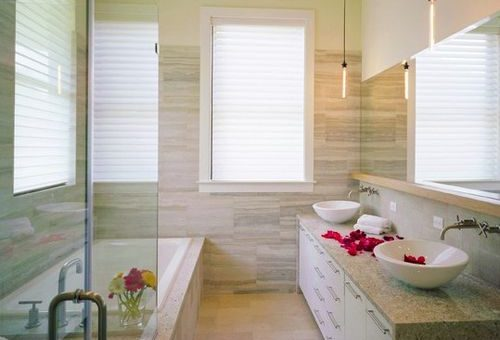 Ванная комната узкая и длинная дизайн фото