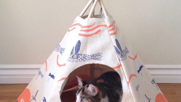 Вигвам домик для кошки своими руками