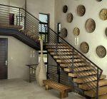 Зал с лестницей на второй этаж фото – фото холла и второй этаж, часть гостиной дома, белая съемная комната, декоративная детская